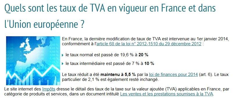 Taxe sur la valeur ajoutée -TVA