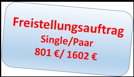 Die Höhe des Sparer-Pauschbetrag für Singles 801 €, Verheiratete 1602 €