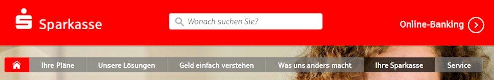 Sparkasse Webseite unter www.sparkasse.de