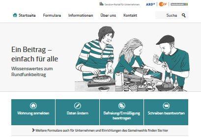 Auf www.rundfunkbeittrag.de ist die ehemalige GEZ zu finden