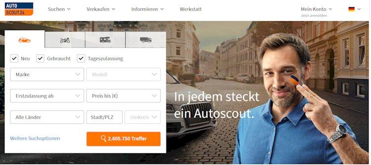 Das Online Portal autoscout24.de für Gebrauchtwagen und Neuwagen, Privatpersonen und Händler hier im aktuellen Text