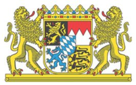 Das Staatswappen von Bayern