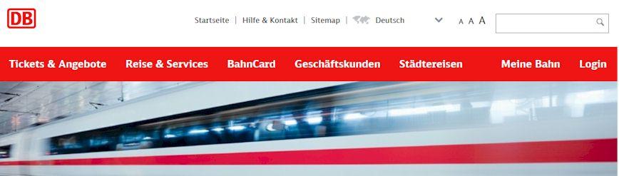 Die Deutsche Bahn bietet auf www.bahn.de für ihre Kunden viele Informationen