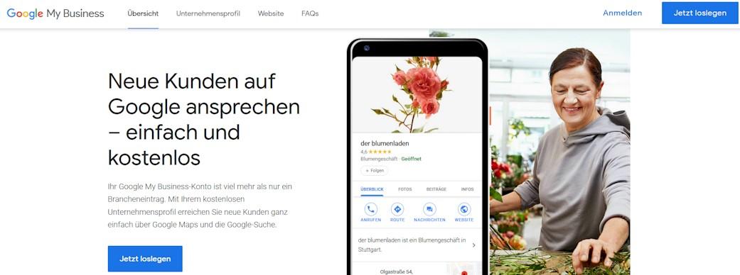 Google My Business - kostenloser Brancheneintrag für die Neukundenwerbung