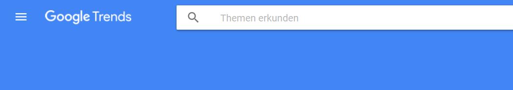 Startseite von Google Trends: www.google.de/trends/