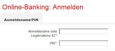 Das Login Feld zum Online-Banking der Sparkasse Eichsfeld