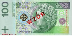100 Zloty Banknote