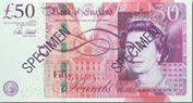 50 Britische Pfund Banknote England